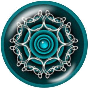 20MM装飾パターンガラススナップボタン