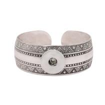 1 пуговица на кнопках серебристый браслет подходит для украшений на кнопках