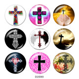 20MM CROSS Easter glass snaps buttons