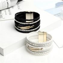 Multi layer Bracelet woven Bracelet leaf wide edge Bracelet