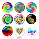 Botones a presión de vidrio arcoíris de 20 mm