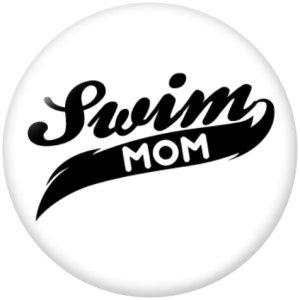 Стеклянные кнопки Дня матери 20 мм