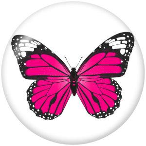 Стеклянные кнопки с принтом бабочки 20 мм