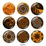 20MM dekoratives Muster Druckknöpfe aus Glas drucken
