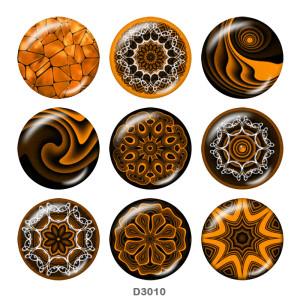 Декоративный узор 20 мм Стеклянные кнопки с принтом