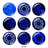 20MM decorative pattern Print glass snaps buttons