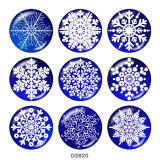 20MM Christmas glass snaps buttons