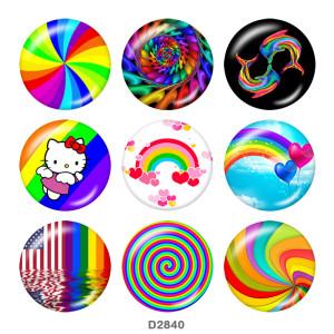 Кнопки на кнопках из радужного стекла 20 мм