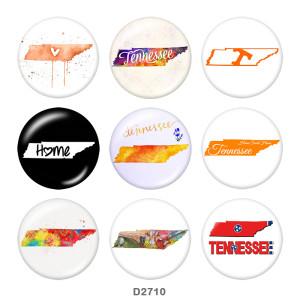 Стеклянные кнопки с изображением карты 20 мм