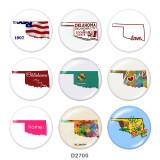 20-mm-Karte Drucken Sie die Druckknöpfe aus Glas