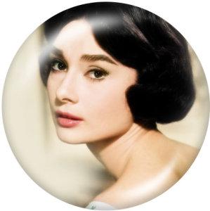 Стеклянные кнопки Одри Хепберн 20 мм