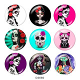 20MM holiday glass snaps buttons