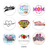 20MM Mother's Day glass snaps buttons