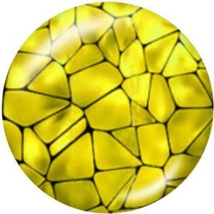 20MM装飾パターンプリントガラススナップボタン