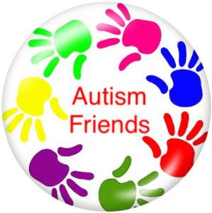 20 мм кнопки для ухода за аутизмом с принтом на стекле