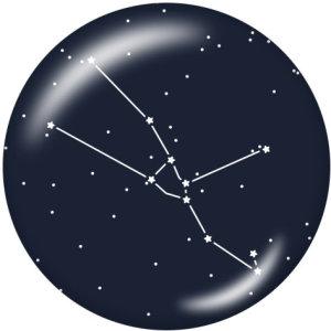 Стеклянное дно с 20 созвездиями, 12 мм