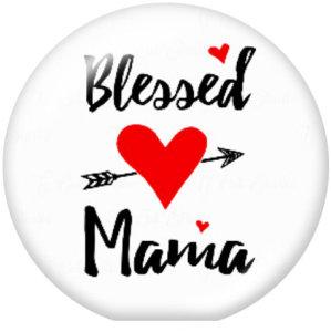 MAMA NANA Семейство MIMI MOM 20 мм Стеклянные кнопки с принтом и кнопками