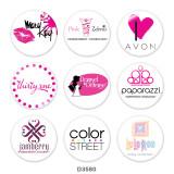 20MM girls Print glass snaps buttons