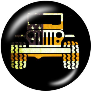 Botones a presión de vidrio con estampado de Jeep de 20MM para automóvil