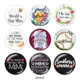 20MM family Print glass snaps buttons