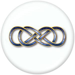 Стеклянные кнопки с принтом Infinity LOVE Faith 20 мм