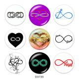 Botones a presión de vidrio Infinity LOVE Faith Print de 20 mm