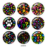 20MM Colorful Print glass snaps buttons
