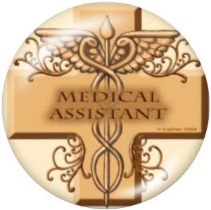 20MM RN Nurse Medizinische Behandlung Drucken Sie die Druckknöpfe aus Glas