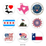 20MM  USA Chemorial Day  Print glass snaps buttons