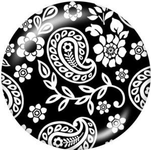 20-mm-Muster Druckknöpfe aus Glas drucken