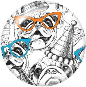 20MM Cartoon Print Glasschnappknöpfe