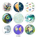 20MM  Ocean World  Print  glass snaps buttons Beach Ocean