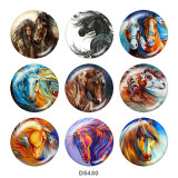 20MM horse   Print glass snaps buttons