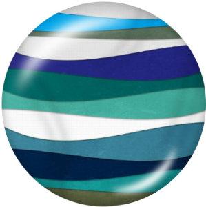 20MM Musterdruck Glasdruckknöpfe Strand Ozean