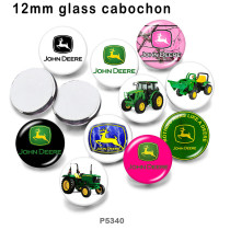10pcs/lot truck  glass picture printing products of various sizes  Fridge magnet cabochon