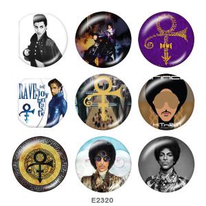 Стеклянные кнопки с принтом 20MM Music team