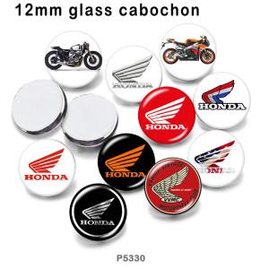 10 unids / lote productos de impresión de imágenes de vidrio de coche de motocicleta de varios tamaños imán de nevera cabujón