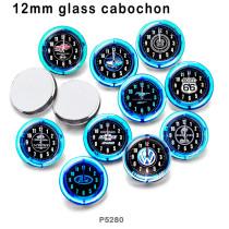 10 Stück / Los Glasbilddruckprodukte in verschiedenen Größen Kühlschrankmagnet Cabochon