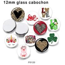 10 Stück / Los Nationalflagge Glas Bilddruckprodukte in verschiedenen Größen Kühlschrank Magnet Cabochon