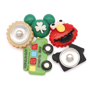 20MM Cartoon Metall versilbert Snap Charms Snaps Schmuck
