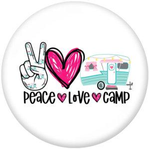 20MM Peace Love Möpse Druckknöpfe aus Glas drucken