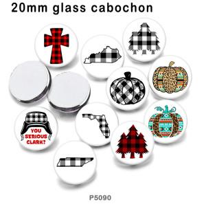 10 Stück / Los Festival Glas Bilddruckprodukte in verschiedenen Größen Kühlschrank Magnet Cabochon