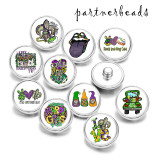 20MM  St Patricks Day  Print  glass snaps buttons