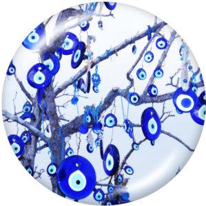 20MM Musterauge Drucken Sie die Druckknöpfe aus Glas