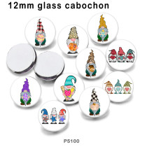 10pcs/lot festival  glass picture printing products of various sizes  Fridge magnet cabochon
