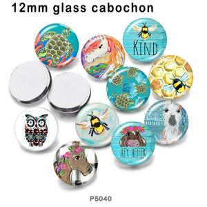 10 Stück / Los Tierglas-Bilddruckprodukte in verschiedenen Größen Kühlschrankmagnet Cabochon
