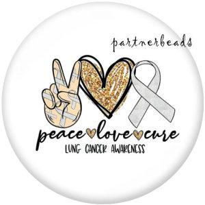 20MM Peace Love Hope Druckglas-Druckknöpfe