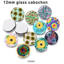 10 Stück / Los Blumenglas Bilddruckprodukte in verschiedenen Größen Kühlschrank Magnet Cabochon