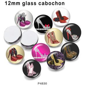10 Stück / Los High Heels Glasbilddruckprodukte in verschiedenen Größen Kühlschrankmagnet Cabochon