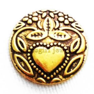 20MM Loveheart Snap Gold Überzogener Druckknopf